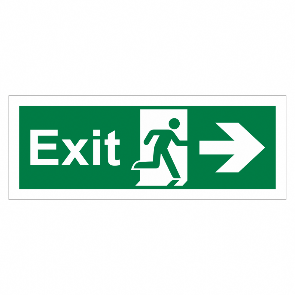 Exit Arrow Right Sign